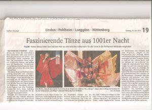 Gießener Anzeiger 10.06.2013